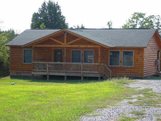 Log siding for mobile homes modular home provided by log for Log siding house plans