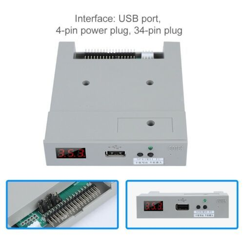 USB Emulator 3.5 SFR1M44-FU-DL USB 1.44MB 34-Pin Floppy Drive Emulator for Electronic Organ