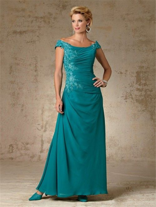 Elegant Mother Bride Dresses - ... Elegant off the shoulder long ...