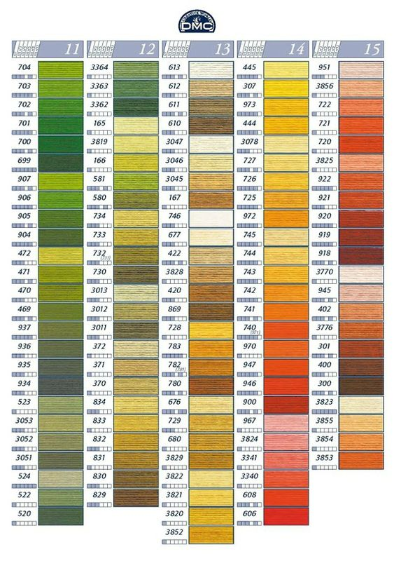 Nuancier Dmc Noms De Toutes Les Couleurs 1 2 3 Flo Bricole Gourmandises Floss Color Chart And Numbers Pinterest