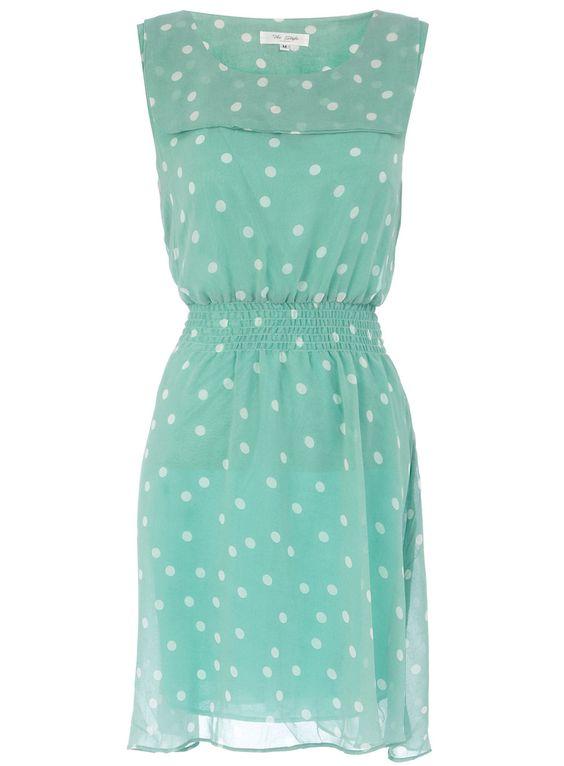 Polka dot pastel dress