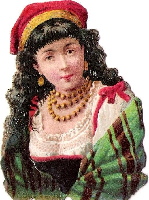 Oblaten Glanzbild scrap die cut chromo Dame lady head Kopf portrait buste girl: