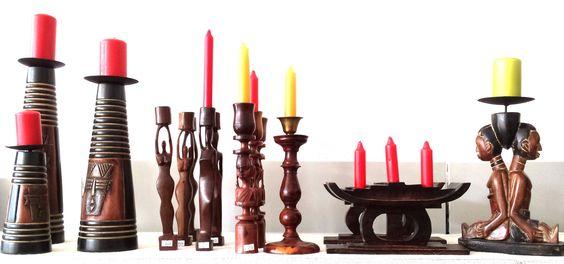 Moderne Afrikanische Kunst  Auswahl an Kerzenständer bei MAKEBA African Art Galerie & Shop, Rosenhof 2-4, Chemnitz oder http://makeba.de/