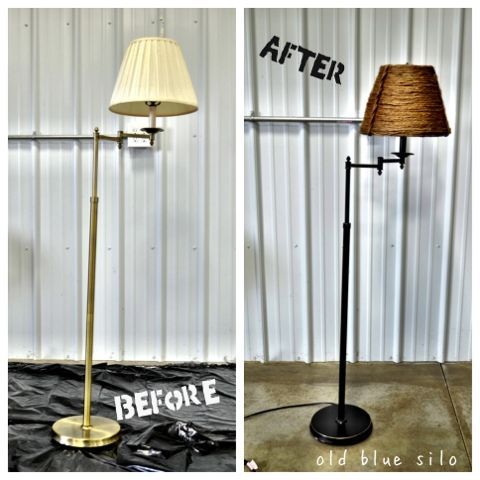 Lamp Makeover Lamp Makeover Diy Floor Lamp Floor Lamp Makeover