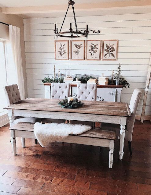 Classic Barnwood Farmhouse Table With Distressed Antique White Base And Optional Farmhouse Dining Room Table Farmhouse Dining Table Farmhouse Table With Bench White distressed dining table