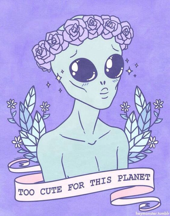 Cute Alien Tattoo - To cute for this planet.