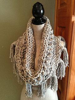 Free Crochet Pattern Fringed Cowl : Crochet cowl with fringe, grandma is making this for me ...
