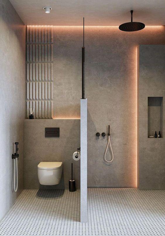 22 ไอเด ย การออกแบบห องน ำขนาดเล ก ก นพ นท โซนเป ยก แห ง สไตล โมเด ร น ไม แคบและอ ดอ ด Ihome108 Modern Bathroom Modern Bathroom Design Minimalist Bathroom