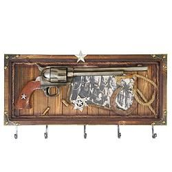 Pistol Wall Plaque With Hooks - $114.99