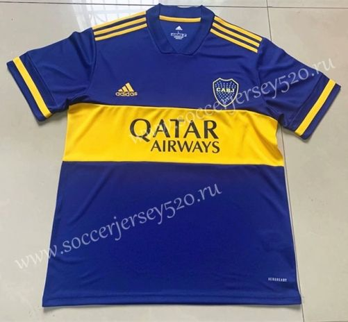 2020-2021 Boca Juniors Home Blue (Without Arm Ad) Thailand Soccer ...