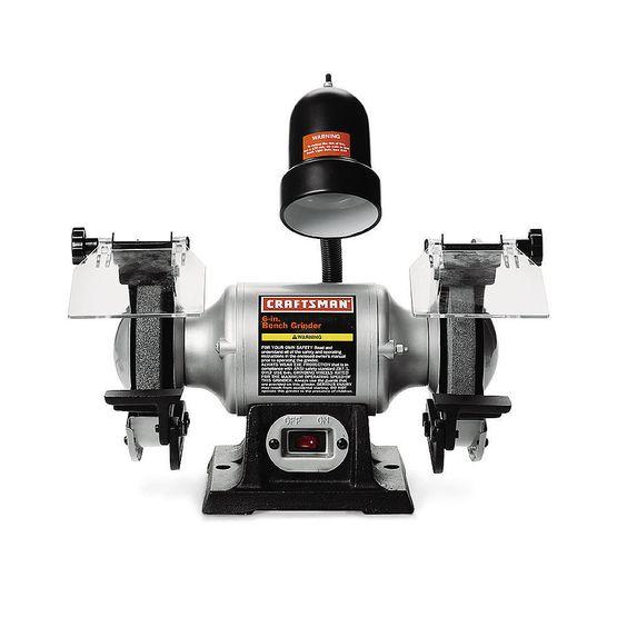"Craftsman 1/6 hp 6"" Bench Grinder with Lamp (21124)  #Craftsman"