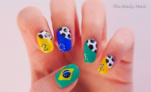 disenos unas futbol, soccer nail art
