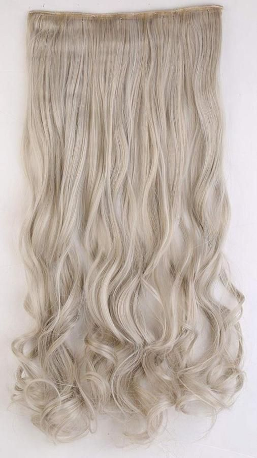 S Noilite Uk Women 24 Inches 60cm Ash Blonde Mix Silver Grey