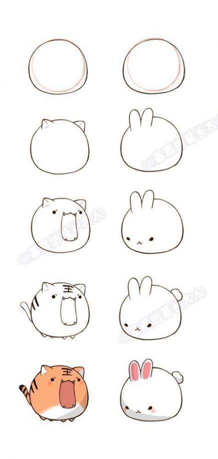 39 Trendy Drawing Ideas Cartoon Animals Cute Easy Drawings Cute