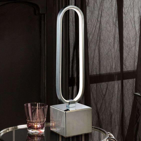Moderne Fensterbank Lampe Colette Von Schuller Silber In 2020 Tischleuchte Led Tischleuchte Und Led Hangeleuchte