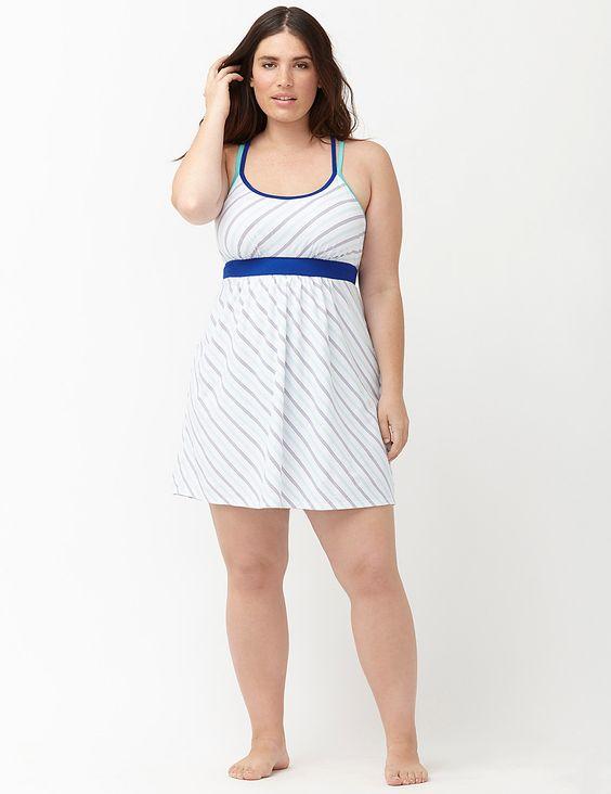 lane bryant biased striped knit chemise - Google Search