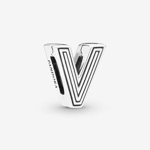 Sterling Silver Reflections Letter V Bead