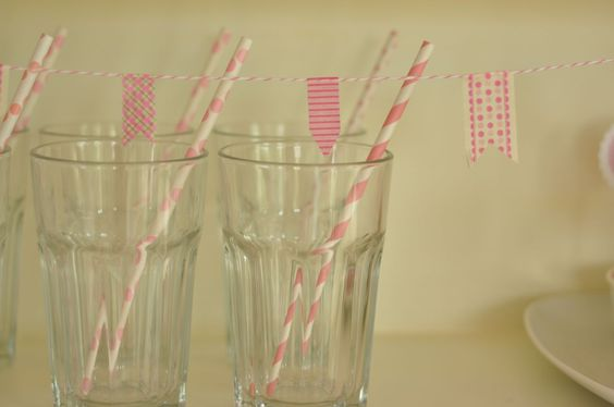 candy table glasses