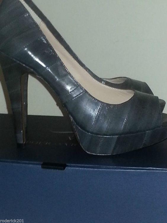 """Womens Pour La Victoire """"Angelie"""" Eel Peep Toe Platform Pumps,  Shoes size 8.5 RETAIL 229.99"""