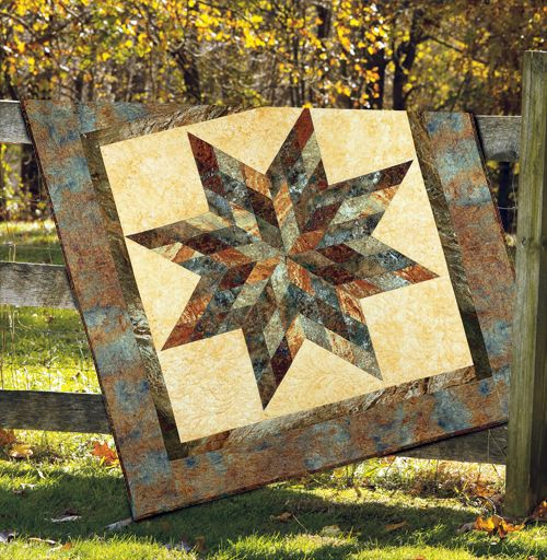 """""""Harvest Lone Star"""" by Betsy Smith (from The Quilter October/November 2012 issue)"""