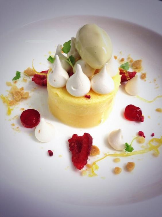 @chef4pm - Textures of Lemon Meringue with Raspberry #FeedYourEyes Nov/Dec---sounds delicious and looks really interesting!