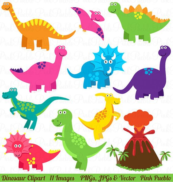 Clip Art Dinosaurs Clipart dinosaur clipart clip art great for a birthday party invitations commercial and personal