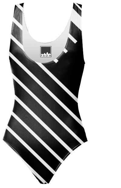Lines black and white designed by Vanessa GF | Print All Over Me   #swimsuit , #blackandwhite , #lines , #abstract ,