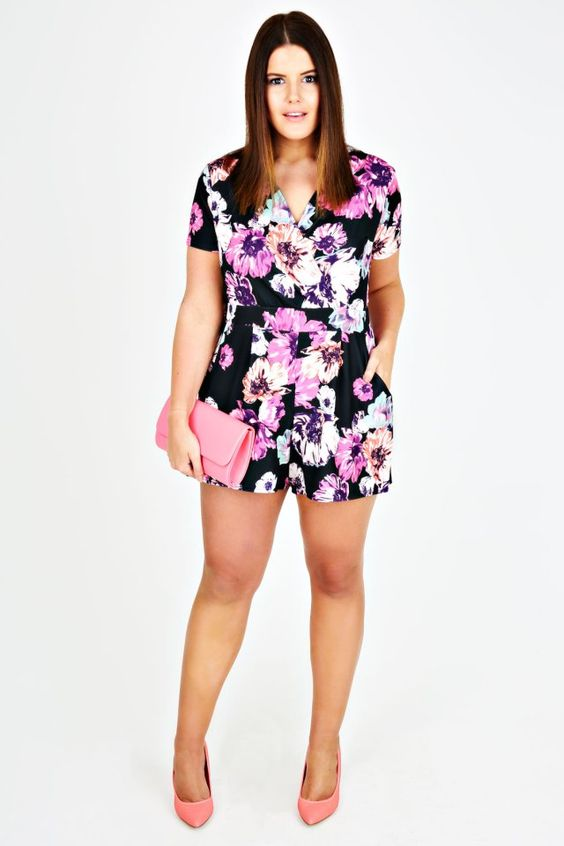 Floral Romper   Yours Clothing #fashion #style #playsuit #plus ...
