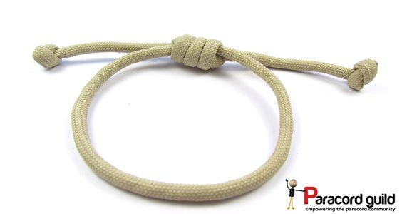 Hangman's noose paracord bracelet tutorial.