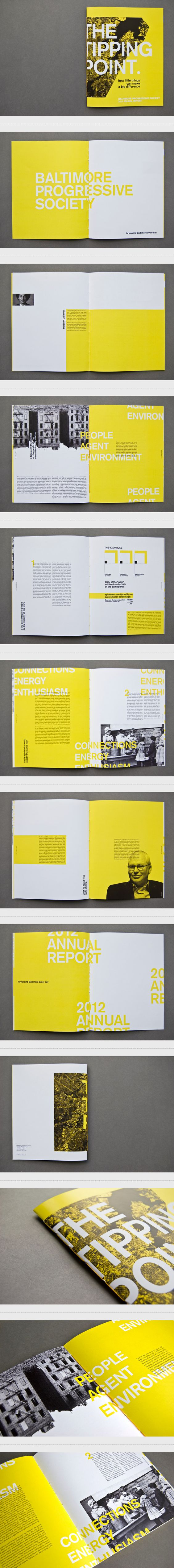 2 colores, un audaz amarillo y un negro acompañante // The Tipping Point: Annual Report