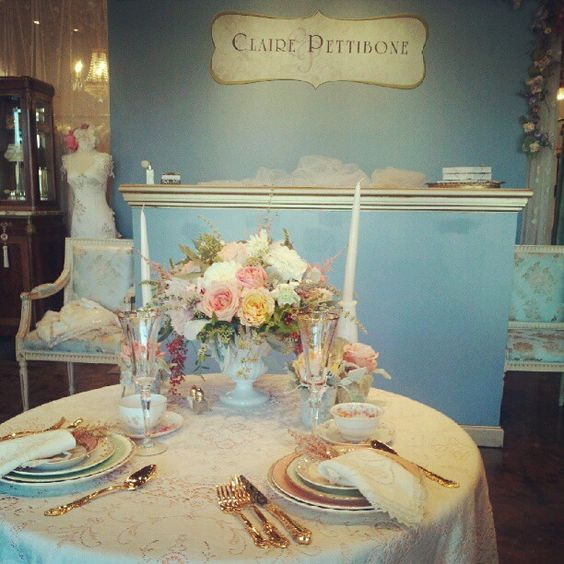 Claire Pettibone Trunk Show - Table Design by @Kathy {The Vintage Table Co.}  - Image by @Guy Toley
