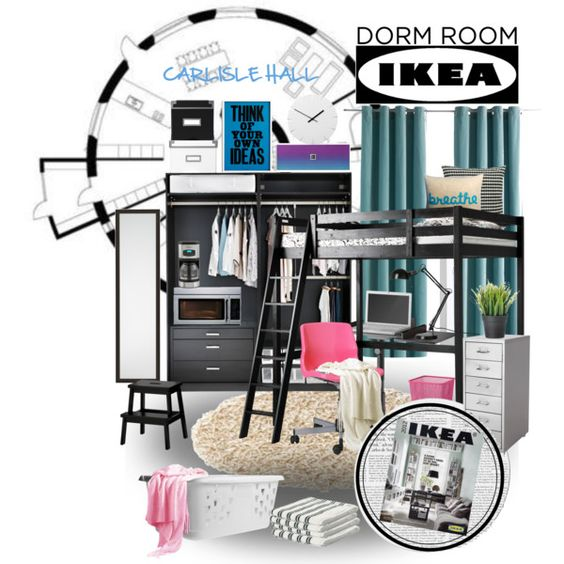 """""""~Furnish Your Dorm Room at Ikea~"""" by ambervogue on Polyvore"""