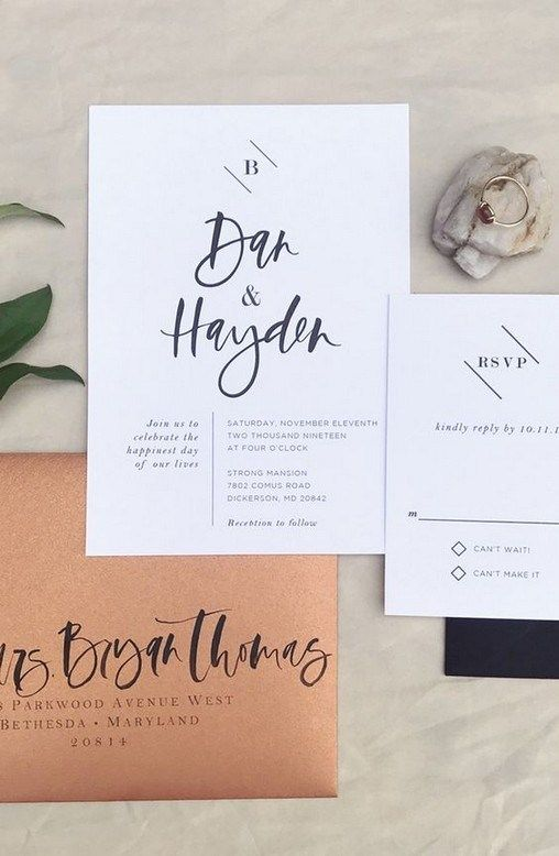 27 unique wedding invitation designs you have to see 00002 ...