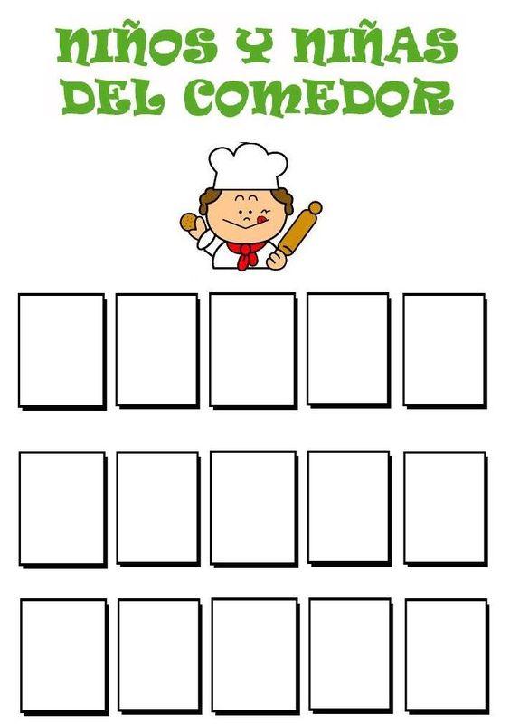 Menta m s chocolate recursos y actividades para for Cartel comedor infantil