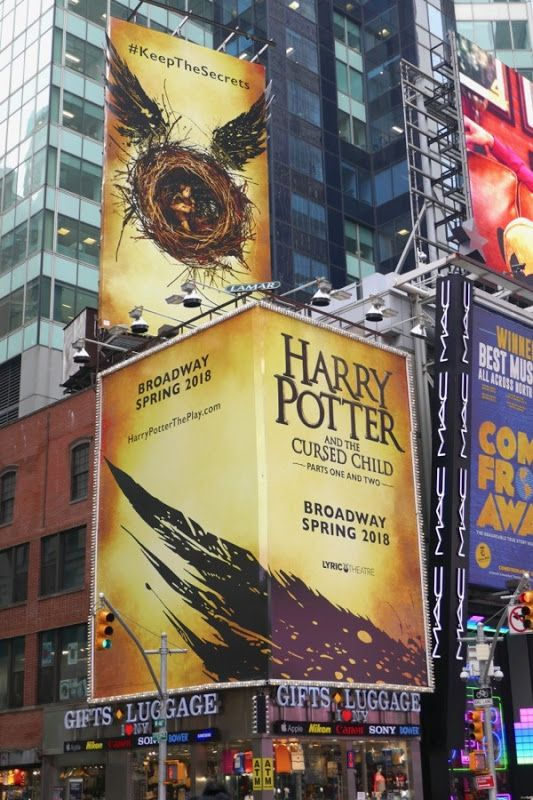 Harry Potter And The Cursed Child Broadway Billboards Billboard New York February Cursed Child
