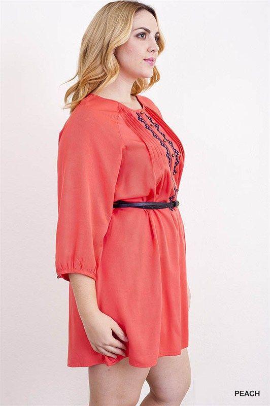 Coral Blue Print Belted Dress 1x, 2x, 3x. $55.00. Blondellamy'Dean - A Curvy Girl's Boutique. www.blondellamydean.com. Sizes 10-36. Daily New Arrivals.