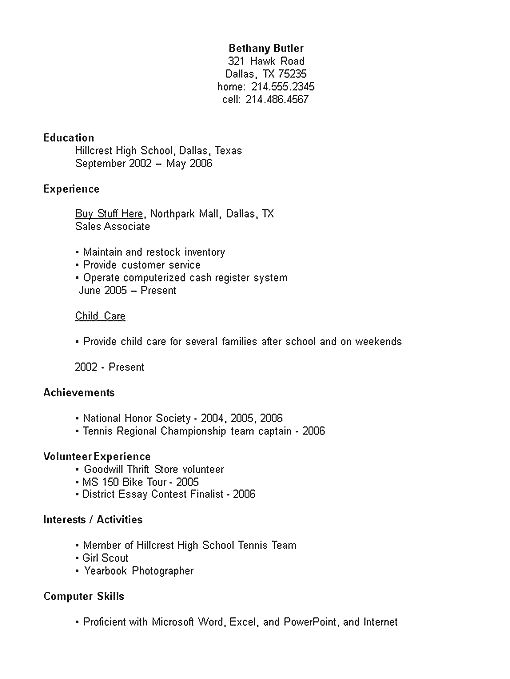 Pin By Fleta Mountain Resume Tips On Resume Examples Student