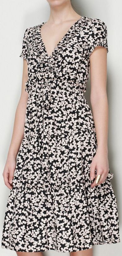 Marc Jacobs White, Pink And Black Dress