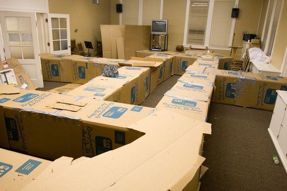 Giant Cardboard Box Maze