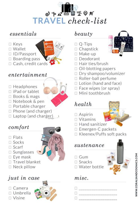 What to Pack in Your Carry-On | Free Travel Checklist // Get more packing tips at Read our packing tips for a summer holiday in Europe at http://www.holidaystoeurope.com.au/home/resources/european-travel-blog-news-travel-tips/853-packing-list-for-a-summer-holiday-in-europe