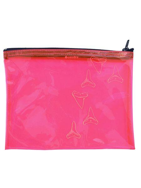 Fluorescent Shark Tooth See-thru Bag via Shop Samudra