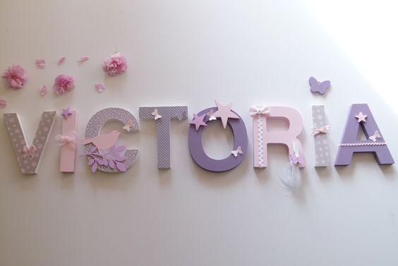 Victoria decoration and names on pinterest - Lettre de decoration ...