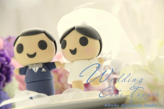 Wedding Cake Topper-love bride and groom #cakedecor