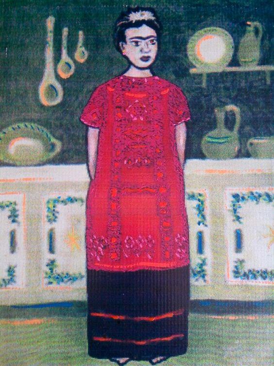 Frida en la cocina - Arte