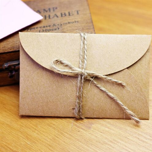 Handmade Mini Craft Paper Envelope Paper Envelopes Mini Kraft