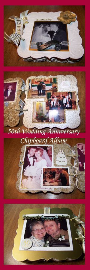 Th golden wedding anniversary scrapbook chipboard album