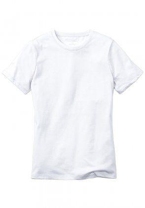 Basic-Shirt mit Rundhalsausschnitt Weiß | M (38/40) Fittet Shirt, non-see through?
