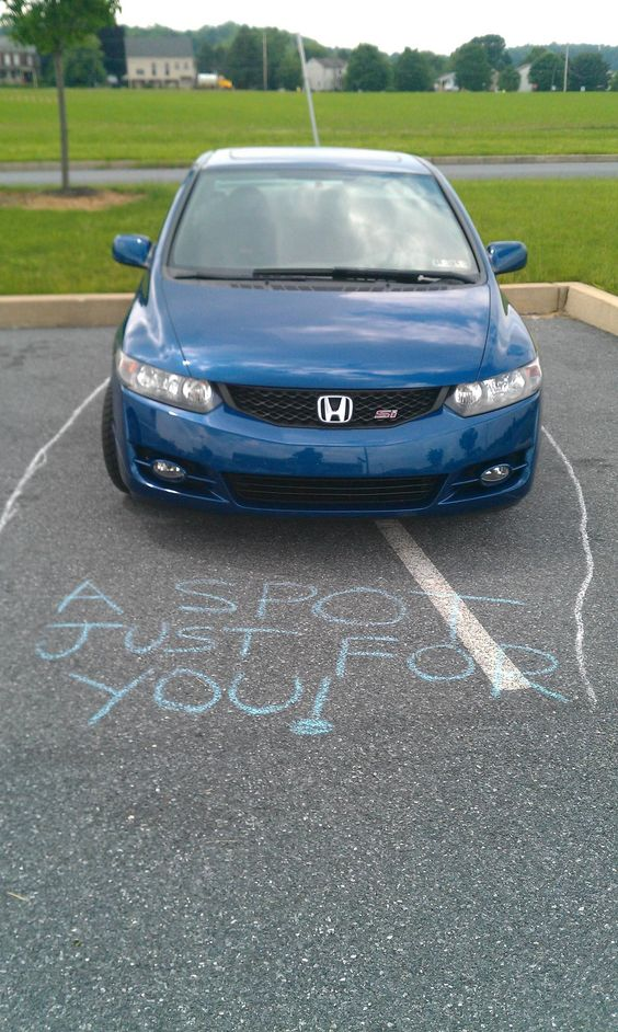 yes! Hmmm thinking about carrying some sidewalk chalk in my car- hahaha