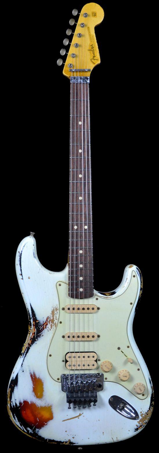 1960 Fender Stratocaster White Lightning 3 Tone Sunburst w/ Floyd Rose