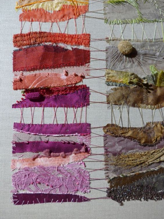 Catherine Tourel unusual patchwork textile art http://catherinetourel.canalblog.com/                                                                                                                                                      Plus
